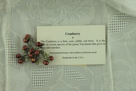 "Michael Michaud ""Cranberry"" brooch, handmade bronze w/ freshwater pearls - $85.00"