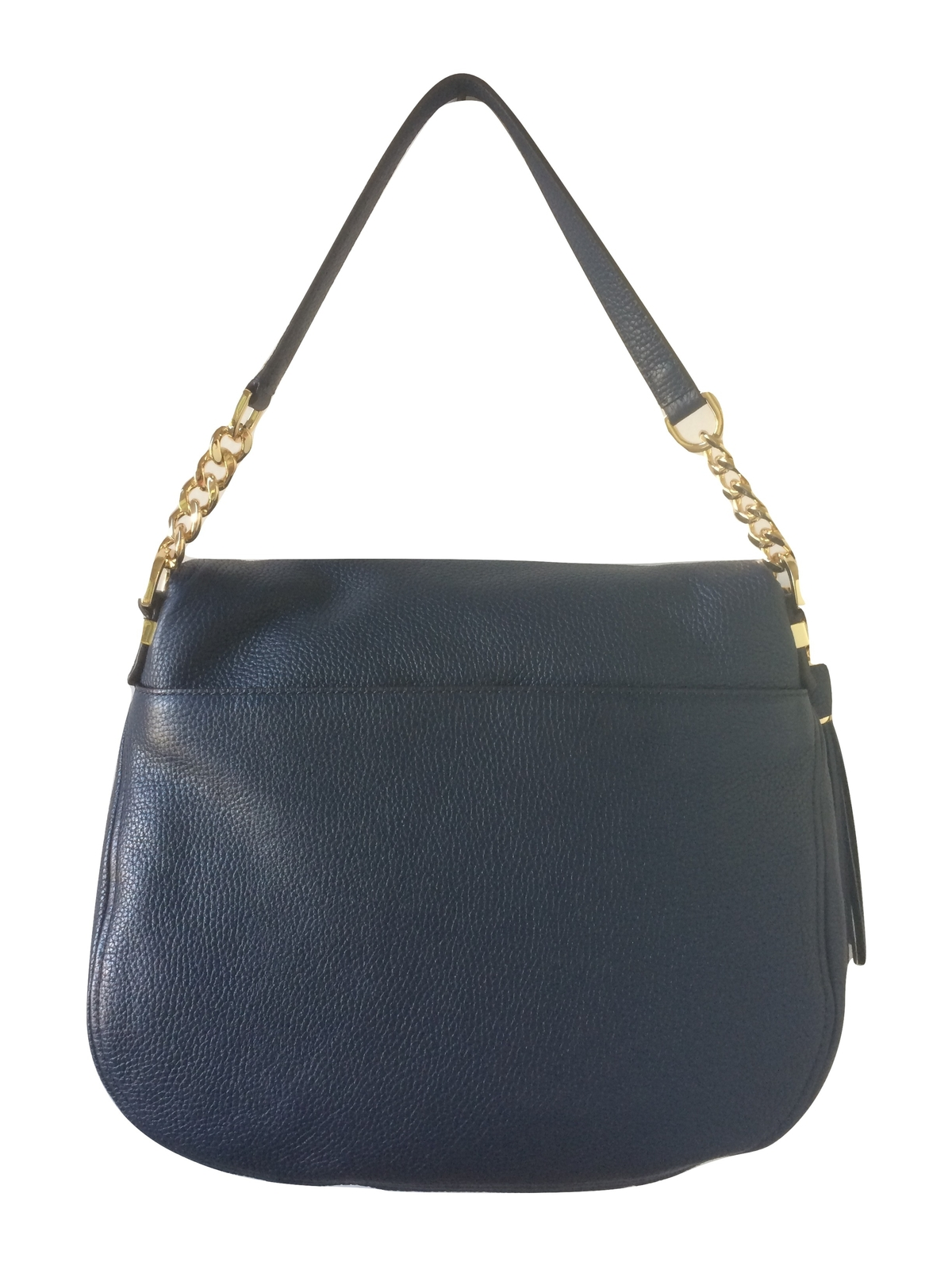 0f8106afbca6 Michael Kors Bedford Large Tassel Convertible Leather Shoulder Bag (Navy)