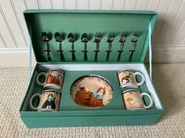 SAKURA Garland Cats 16 Piece Entertainment Set  w/ Reusable Box Oneida R... - $47.02