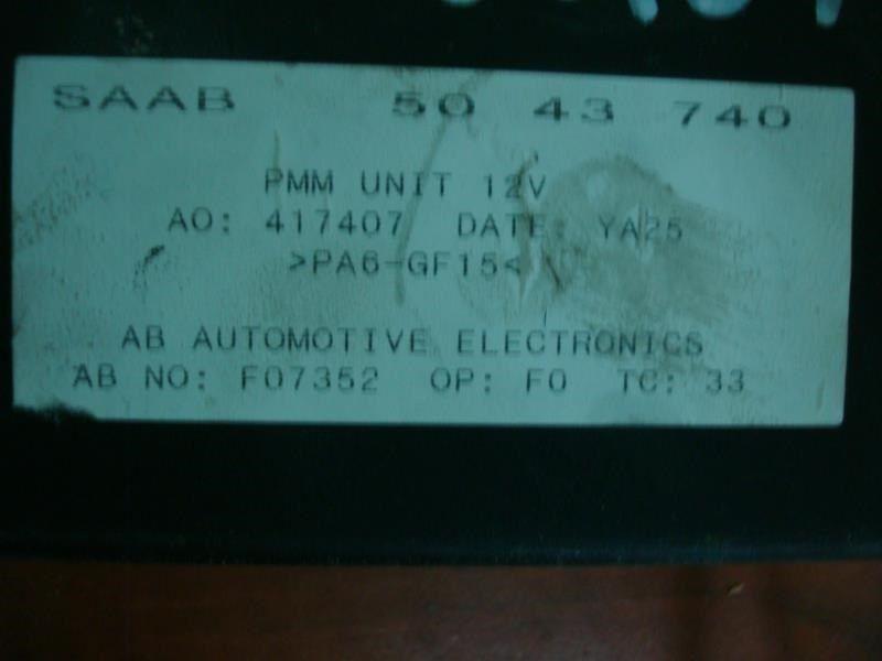 99-01 02 03 04 05 06 07 08 09 10 SAAB 9-5    MIRROR CONTROL MODULE  ID #5043740