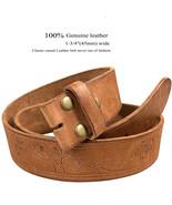 "Embossed Casual Genuine Full Grain Leather Belt Strap 1-3/4""(45mm) Wide - $24.95"
