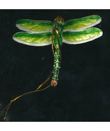 Articulated green dragonfly hanging ornaments-- Set of 4pc. Beautiful ! - $29.95