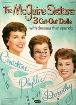 VINTAGE UNCUT 1959 McGUIRE SISTERS PAPER DOLLS~#1 REPRODUCTION~LARGE WAR... - $19.99