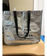 Reusable Lululemon LULU LEMON Clothes Silver SHOPPING BAG 14 x 6 x 15 - $4.99
