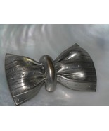 Vintage Large Silvertone Creased Bow Pin Brooch – AS-IS - 1 and 5/8th's ... - $7.69