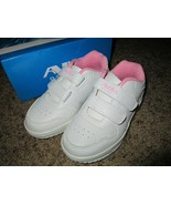 Toddler Girls White/Pink Sneakers shoes size 5 Brand New - $13.50