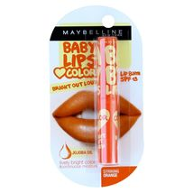 Maybelline Baby Lips Bright Out Loud Color Tinted Lip Balm SPF13 Striking Orange - $8.99
