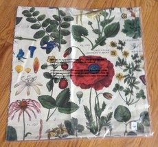 "Pottery Barn Poppy Pillow Cover Ivory 24"" Flora... - $47.30"