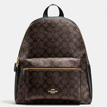 Coach Charlie Backpack F58314 Signature Brown Black NWT - $185.58