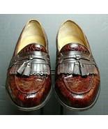 Men's Florsheim Brown Leather Faux-Croc Classic Tassel Loafer Sz 10.5D E... - $30.02