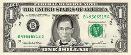 Ruth Bader Ginsburg on REAL Dollar Bill Cash Money Collectible Memorabilia Celeb - $8.88