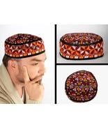 Afghan medıeval folklorıc fez carpet hat handmade cap exotıc ottoman cos... - $47.00