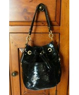 Coach Poppy Black Sequins Drawstring  Bag 17906 - $93.49
