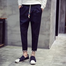 New 2018 Men's Trousers New Korean Fashion Casual Pants Cotton Men's Tro... - $31.62