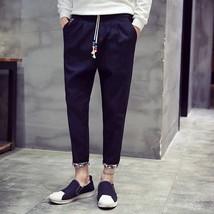 New 2018 Men's Trousers New Korean Fashion Casual Pants Cotton Men's Trousers Sl - $31.62