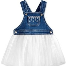 First Impressions Baby Girl's Overall White Tulle Dress W/Liner 24 Mo 27... - $14.85