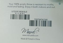 Manual AICWBL Indoor Outdoor Acrylic Throw Blanket Color Aqua Green image 4
