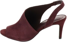 Bandolino Peep-Toe Slingback Sandals Jasmine Dark Red 6.5M NEW S9441 - $21.76