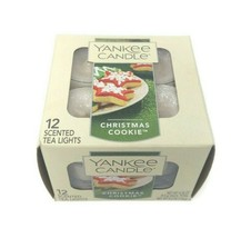 Yankee Candle Christmas Cookie Set Of 12 Tea lights New in Box - $23.75