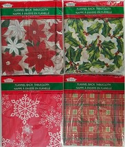 Christmas Holiday Tablecloths Flannel Back Plastic Front, Select: Theme ... - €2,60 EUR
