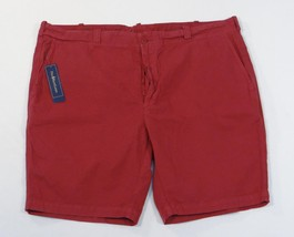 Ralph Lauren GI Fit Dark Red Flat Front Button Fly Shorts Pima Cotton Men's NWT - $74.99