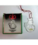 Vintage Gorham Holiday Snowman Full Lead Crystal Christmas Ornament in Box - $9.99