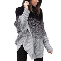 Fashion Bat Sleeve Oversized Pullover Knit Sweaters - $46.18