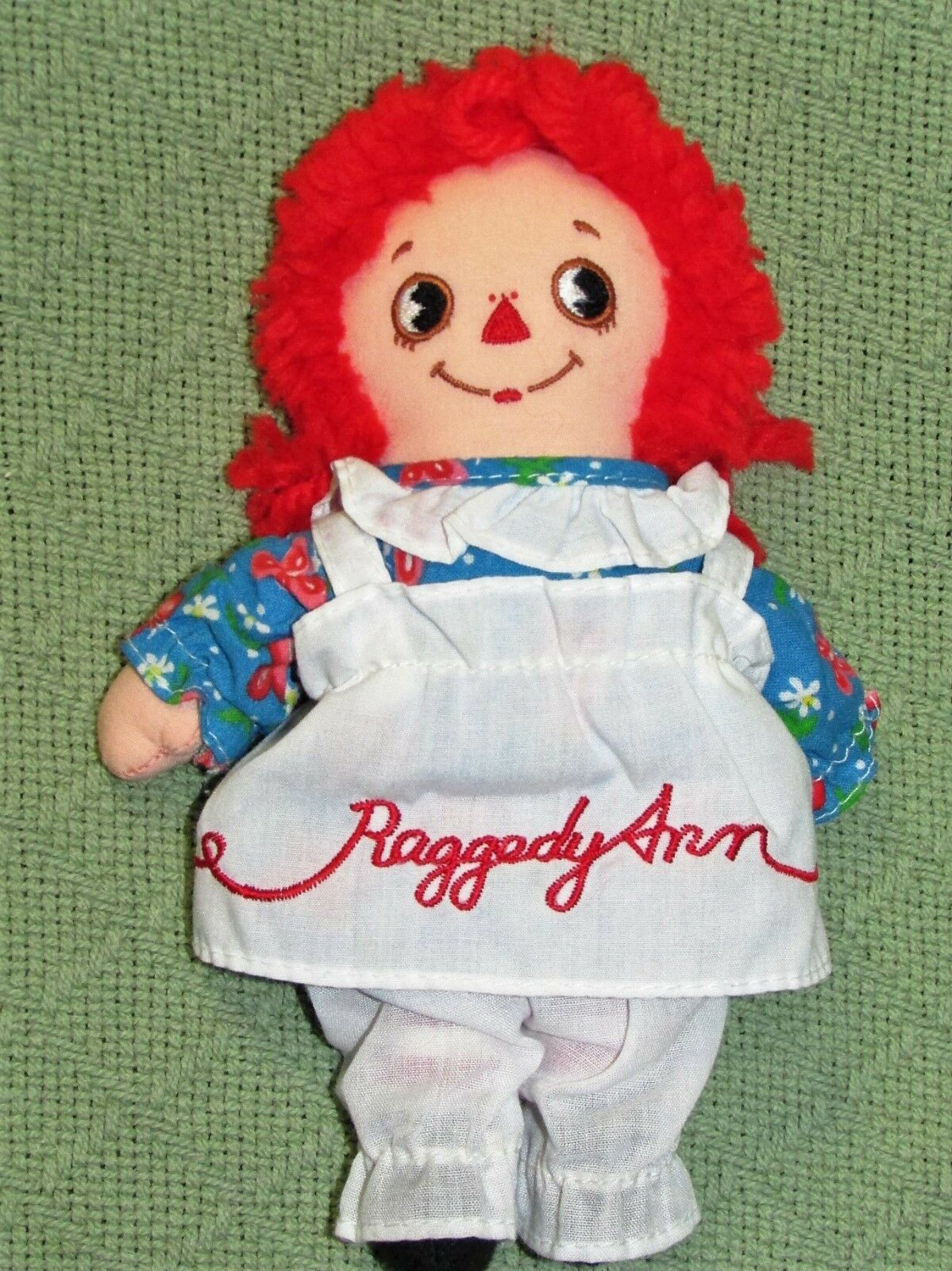 """8"""" KNICKERBOCKER RAGGEDY ANN ANDY Vintage Applause Dolls Embroidered Eyes TAIWAN image 5"""