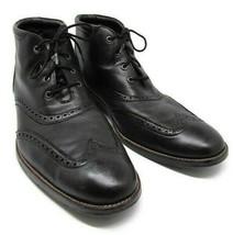 COLE HAAN LIAM Black Wingtip Chukka Boots Mens 11 M - $66.93
