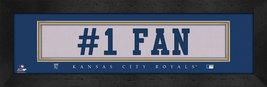 "Kansas City Royals ""#1 Fan"" 8 x 24 Slogan Stitched Jersey Framed Print - $39.95"