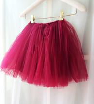 Flower Girl Skirts, Baby Tutu Skirt, Infant Tulle Skirt - Red, Elastic Waist image 2