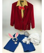 WHITE RABBIT Disney's ALICE IN WONDERLAND Full Costume Medium Halloween ... - $52.87