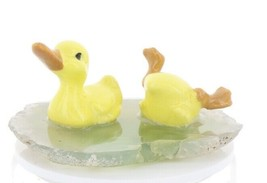 Hagen Renaker Miniature Baby Baby Ducks Swimming Stepping Stones #2762 image 1