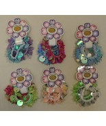 Stretchy Bracelets Hair Ties Qty 6 Pairs Sequins Plastic Beads Pretty - $13.86