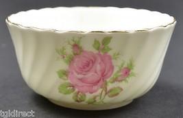 "Adderley Fine Bone China Pink Rose Open Sugar 3.25"" Wide England Tableware  - $12.99"