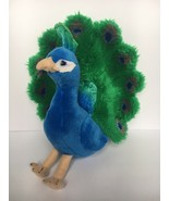 "FAO Schwarz Toys R Us 2013 Blue Green Peacock Bird Plush Stuffed Animal 15"" - $19.79"