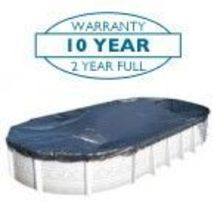 16'x32' Oval Solid Doheny's Winter Pool Cover- 10 Year Warranty - $40.49