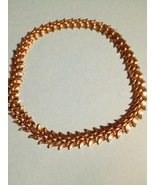 TRIFARI Vintage GoldTone Leaf NECKLACE - 16 inches long - FREE SHIPPING - $32.00