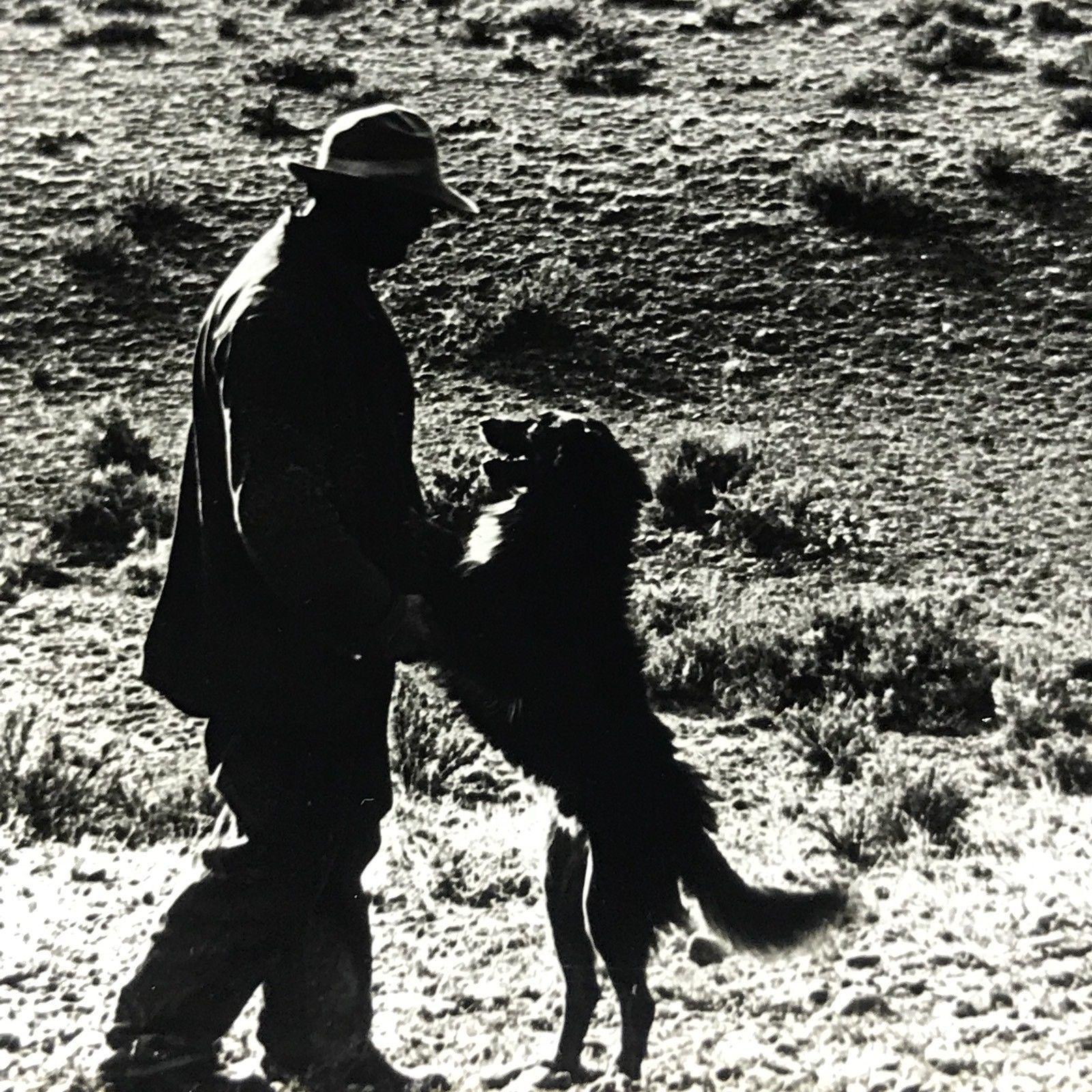 Vtg Magic Lantern Glass Slide Photo Keystone Shepherd And His Dog Idaho Sheep