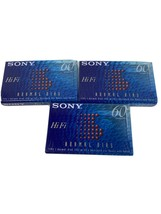 3 SEALED brand new Sony 60 Type I HiFi 60 minute Audio Cassette Tapes - $4.79