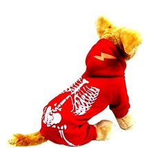 NACOCO Dog Costume Dinosaur Costumes Skeleton Hoodies for Dogs Clothes H... - $14.84