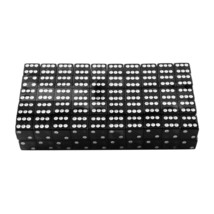 Black w/ White Dots Standard 6 Sided Dice Casino Game Night Board Games ... - $8.15+