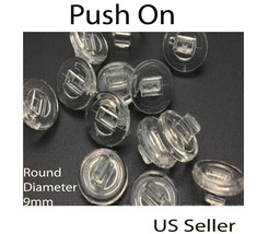 Eyeglass NOSE PADS High Quality SILICONE push on  Round US Seller - $2.86+