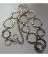 """Vintage Women's Hammered Circle Metal Belt  41.5"""" Long- Adjustable - $49.50"""