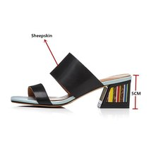 Platform Woman Leather Summer Shoes Sandals 2018 Genuine Casual Fashion FEDONAS Z7Rvxv