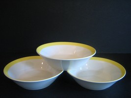 Stonecrest Sandpebbles Yellow 3 Cereal Bowls JI Andre Ponche Royal Jackson 103 - $31.51