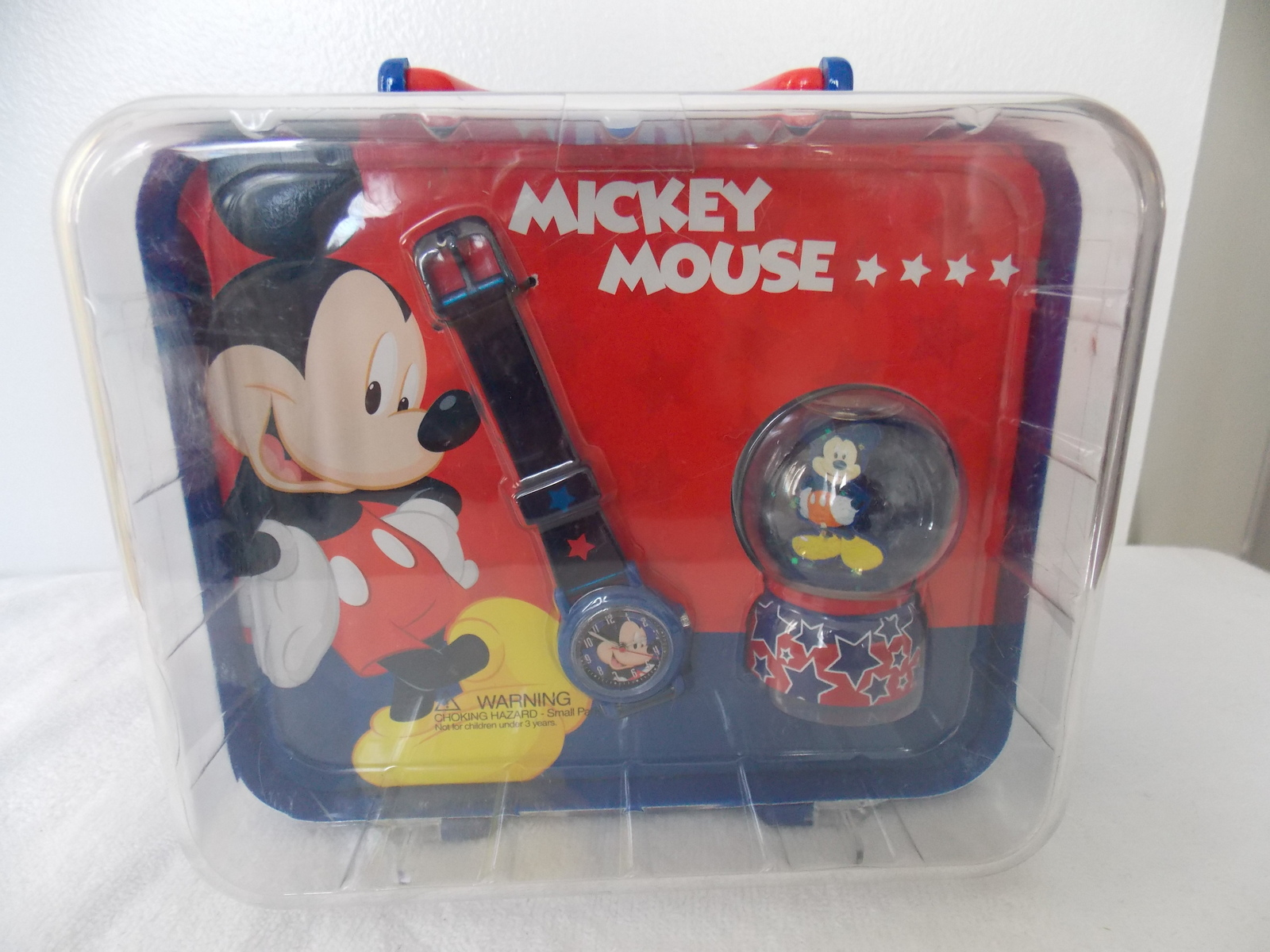 Disney Mickey Mouse Watch and Mini Snowglobe Lunchbox  - $35.00