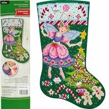 Bucilla Gem Dots Sugarplum Fairy Christmas Craft Facet Art Stocking Kit ... - $39.95