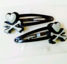 Tokidoki Character Barrettes TKDK logo Hair Clips Hair Accessories Set of 2 - €15,08 EUR