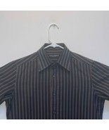 Dolce & Gabbana Mens Striped Shirt Brown Size 15.5 - $97.98